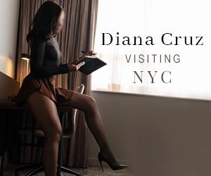 NYC upscale escort Diana Cruz visiting New York city