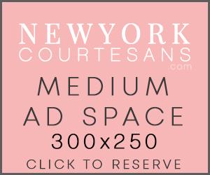 New York courtesans upscale escorts banner advertising