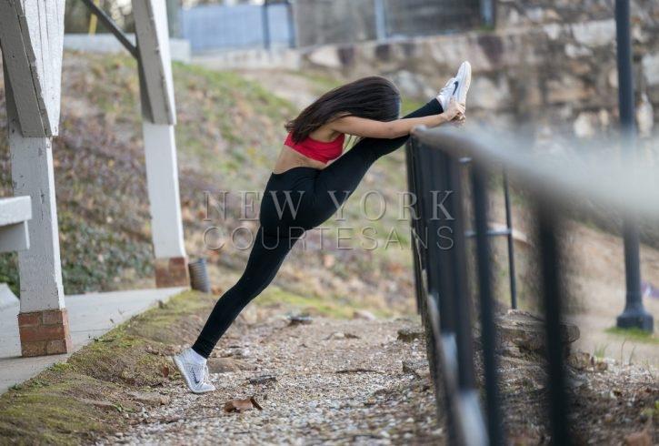 Athletic escort NYC Alexandra Chastain