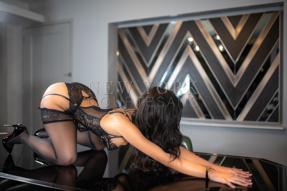 Sexy lingerie escort NYC Alexandra Chastain